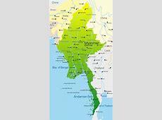 Vector kort over Myanmar land stock vektor Colourbox