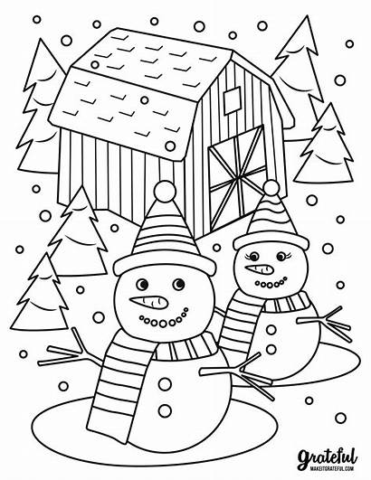 Coloring Sheets Snowman Printable Bonhomme Neige Worksheets