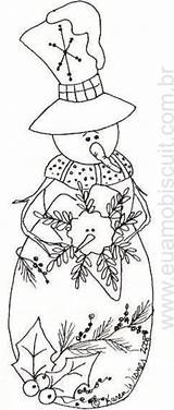 Christmas Coloring Snowman Primitive Embroidery Pages Patterns Folk Paper Redwork Painting Designs Adult Paint Stitch Printable Crafts Template Snowmen Line sketch template