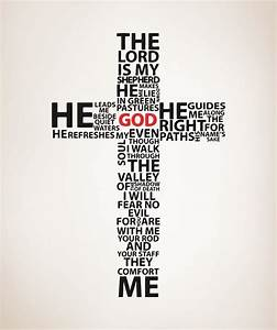 Vinyl Wall Decal Sticker Psalm 23 The Lord is My Shepherd
