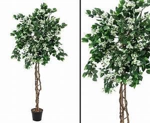 Baum Mit Blüten : kunstlicher bougainvillea baum mit wei en bl ten kaufen ~ Frokenaadalensverden.com Haus und Dekorationen