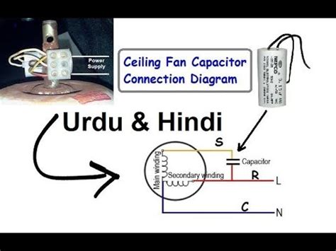 ceiling fan capacitor connection diagram urdu