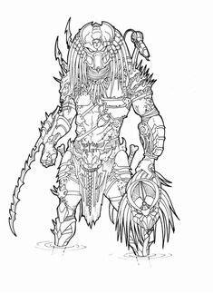 predator coloring pages - Google Search   Predator art