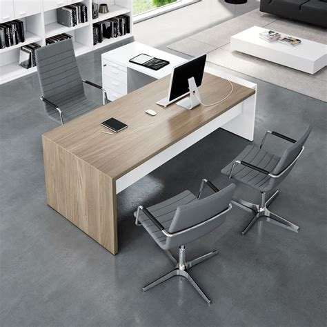 Office Desk by T Desk 02 Office Desk With Peninsula And Drowers In