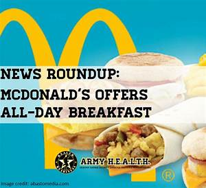 Army H.E.A.L.T.H.   News Roundup: McDonald's Offers All ...