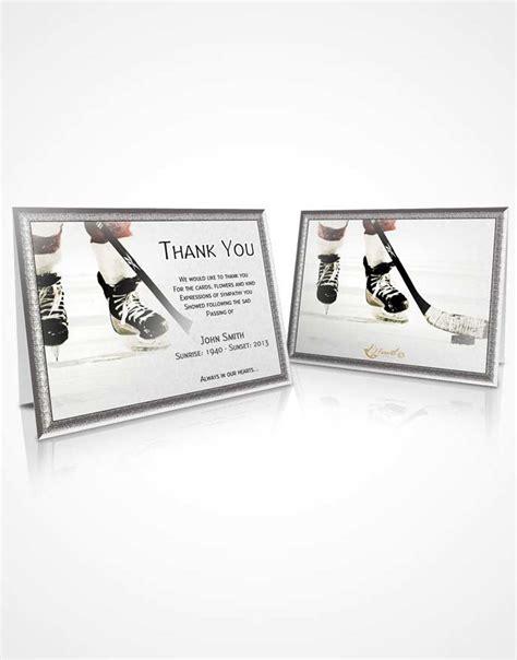 hockey thank you card template beautiful customizable sympathy thank you card hockey 02