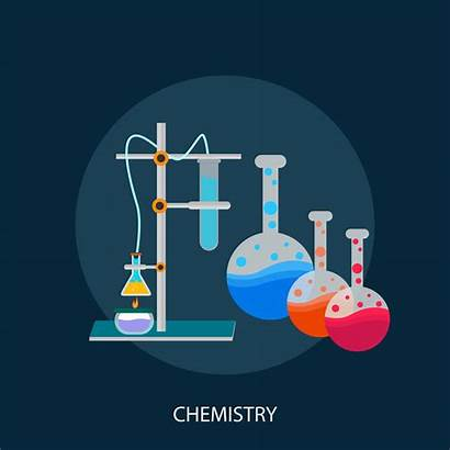 Chemistry Background Vector Illustration Icon Education Science