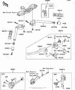 Kawasaki Motorcycle 2011 Oem Parts Diagram For Handlebar