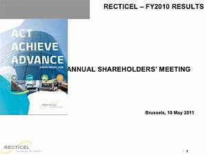 Annual General Shareholders Meeting 10/5/2011