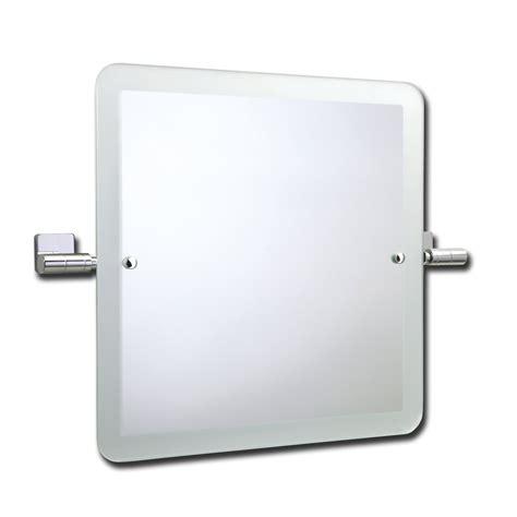 roper rhodes glide swivel square mirror  frosted edge