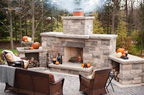 Diy Outdoor Stone Fireplace  Fireplace Designs