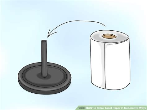 decorative toilet paper storage 3 ways to toilet paper in decorative ways wikihow 6508