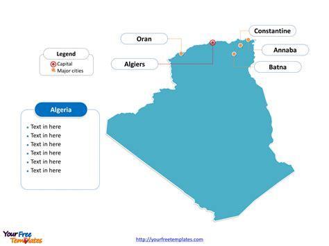 Carte Algerie Villes by Free Algeria Editable Map Free Powerpoint Templates