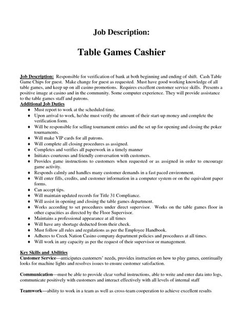 Grocery Cashier Resume Skills by 12 Cashier Description For Resume Recentresumes