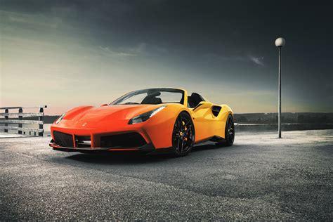 orange sports car ferrari  spider wallpapers  images