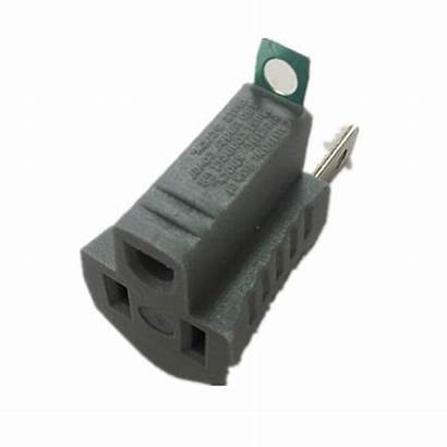 Electric Gray Adapter Outlet Commercial Single Grounding