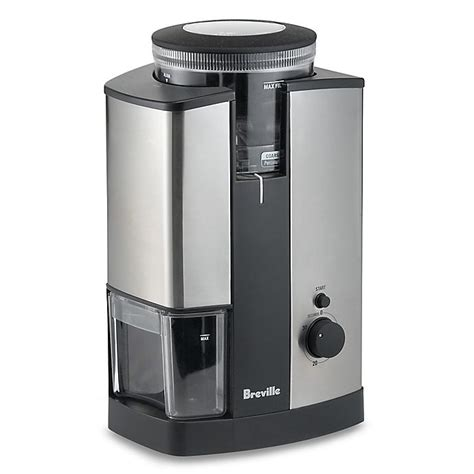 Most electric burr grinders have a range of numerical size selections—designed to grind beans anywhere from very fine, for a moka pot or an espresso machine, to very coarse, for making cold brew or french press coffee. Breville® Conical Burr Grinder | Bed Bath & Beyond