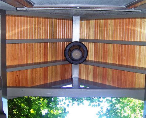 Fir Beadboard : Slate And Mahogony Shed Roof