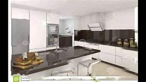 Modele De Cuisine Moderne : cuisine moderne blanche youtube ~ Melissatoandfro.com Idées de Décoration