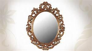 Miroir Baroque Argenté : awesome miroir baroque noir ovale ideas ~ Teatrodelosmanantiales.com Idées de Décoration