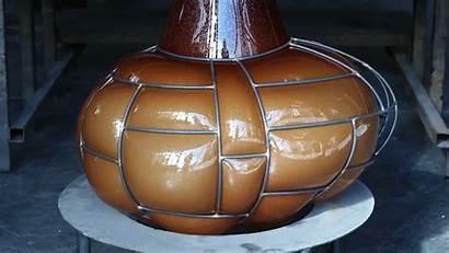 Glass Bulging Lamp Air Blow Pipe Contemporist