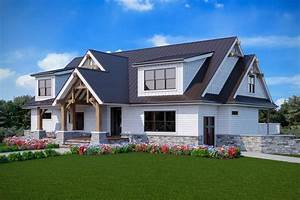 Plan, 92387mx, New, American, House, Plan, With, Upstairs, Home