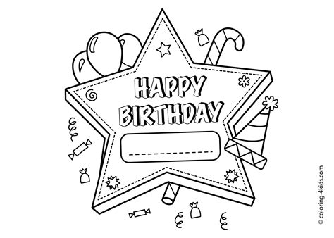 Birthday Clipart Pages