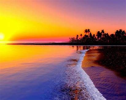 Tropical Sunset 4k Romantic Android Sea Wallpapers