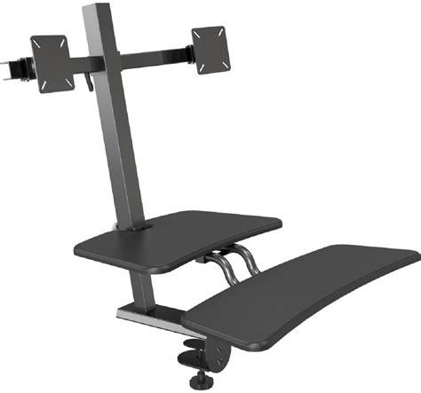 keyboard attachment for desk sit stand desk attachment tilting panning brackets