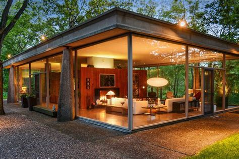 log home interior design own an award winning mid century glass house in chicago