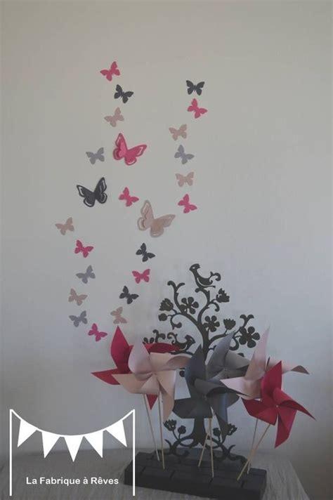 chambre papillon dispo 25 stickers papillons poudré gris et