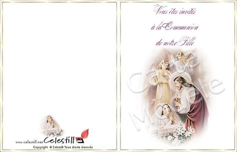 modele carte d invitation communion gratuite imprimer modele invitation communion gratuite a imprimer document