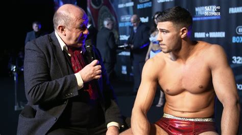 tommy fury wears merry christmas underpants  stage