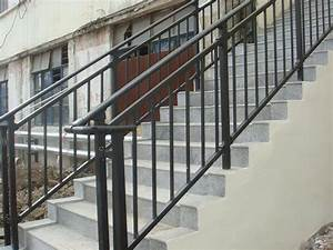 Outdoor Stair Railing Idea : Popular Metal Outdoor Stair