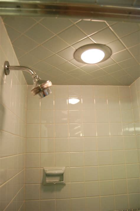 A 1964 blue bathroom with built in Hall Mack, NuTone