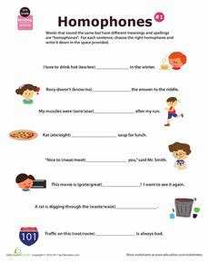 homophone definition  images homophones kids math