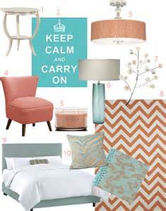 Coral and Teal Bedroom Ideas