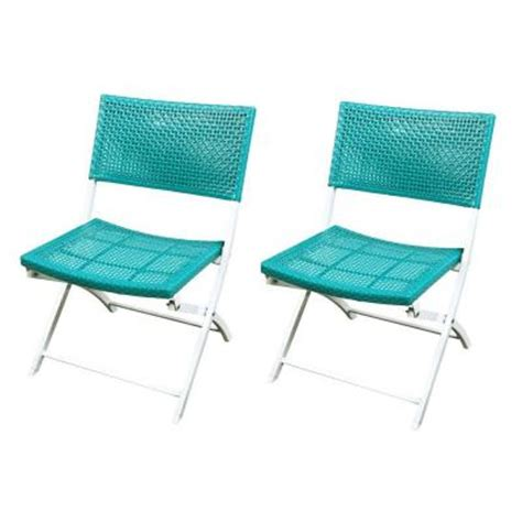 hton bay parksville folding woven patio chair 2 pack