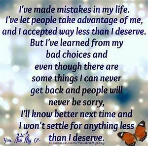 I've made mistakes in my life...   Quotes   Pinterest