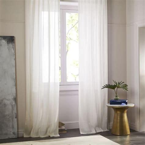 west elm linen curtains sheer belgian flax linen curtain ivory west elm