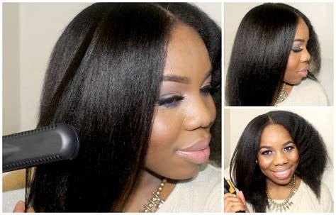 natural natural black hair part