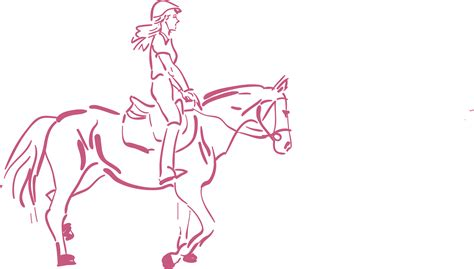 Girl Riding Horse Drawing At Getdrawingscom Free For