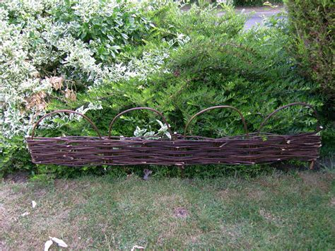 6 X New Outdoor Willow Hurdle Lawn Edging Garden
