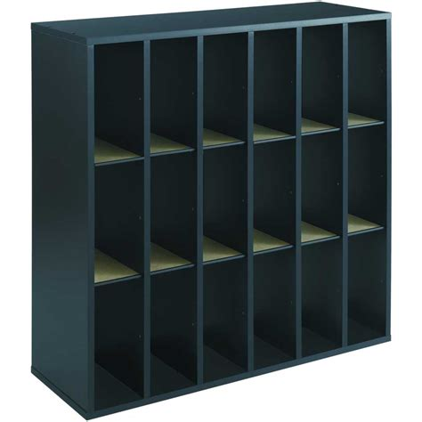 Office Mail by 18 Section Wooden Mail Sorter In File And Mail Organizers