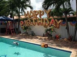 Swimming Pool Dekoration : swimming pool party balloon decoration mylar balloon letters happy birthday http www ~ Sanjose-hotels-ca.com Haus und Dekorationen