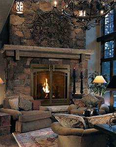 Stone, Fireplace, With, Mantle, And, Hearth, It, U0026, 39, S, Ok, But, I, Really, Like, The, Furniture, Sitting, In, Front