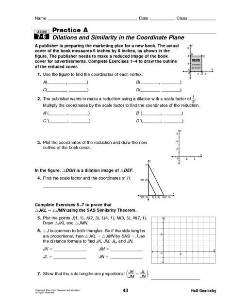Math Dilation Worksheet  Dilation Worksheet With Answer Keynew 2012 11 30 Geometry Dilations
