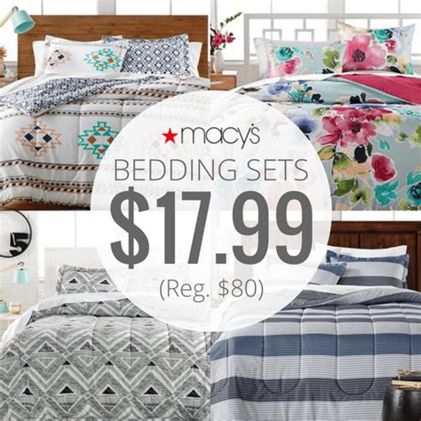 macy s 3 piece bed in bag bedding sets only 17 99