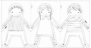 best photos of paper doll chain printable pattern paper With paper doll templates cut out