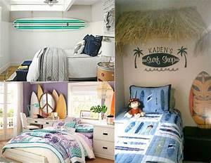 deco chambre enfant avec planche de surf 50 inspirations With chambre bébé design avec guirlande fleurs hawai